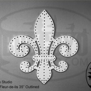 ChromaFleur-de-lis 35″ Outline