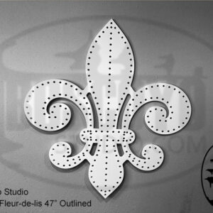 ChromaFleur-de-lis 47″ Outline