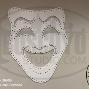 Mardi Gras Comedy Mask